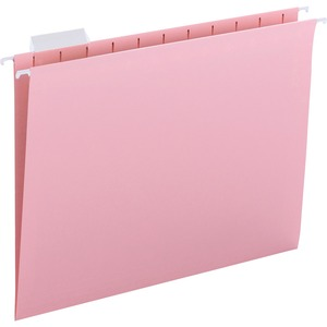 Smead 64066 Pink Colored Hanging Folders with Tabs SMD64066