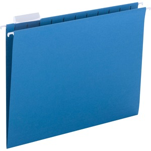 Smead 64068 Sky Blue Colored Hanging Folders with Tabs SMD64068