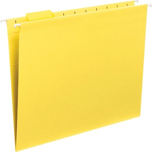 Smead 64069 Yellow Colored Hanging Folders with Tabs SMD64069