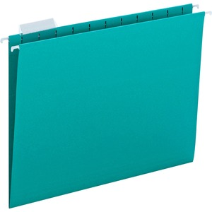 Smead 64074 Teal Colored Hanging Folders with Tabs SMD64074