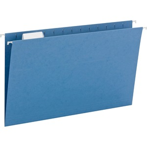 Smead 64160 Blue Colored Hanging Folders with Tabs SMD64160