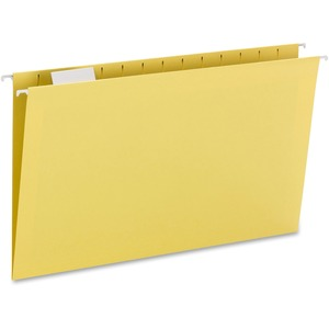 Smead 64169 Yellow Colored Hanging Folders with Tabs SMD64169