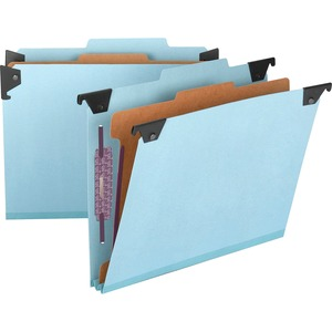 Smead 65105 Blue Hanging Pressboard Classification File Folders SMD65105