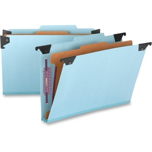Smead 65155 Blue Hanging Pressboard Classification File Folders SMD65155