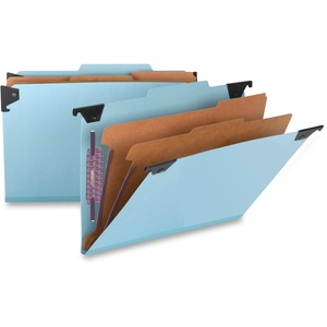 Smead 65165 Blue Hanging Pressboard Classification File Folders SMD65165