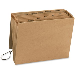 Smead 70186 Kraft Expanding Files with Flap and Elastic Cord SMD70186