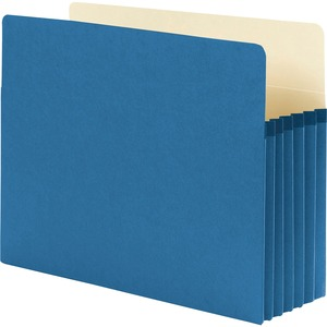 Smead 73235 Blue Colored File Pockets SMD73235