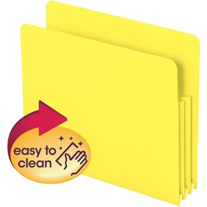 Smead 73504 Yellow Poly File Pockets SMD73504