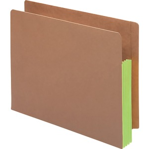 Smead 73680 Green Extra Wide End Tab File Pockets with Reinforced Tab and Colored Gusset SMD73680