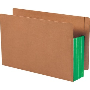 Smead 74680 Green Extra Wide End Tab File Pockets with Reinforced Tab and Colored Gusset SMD74680