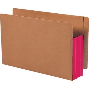 Smead 74686 Red Extra Wide End Tab File Pockets with Reinforced Tab and Colored Gusset SMD74686