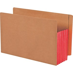Smead 74696 Red Extra Wide End Tab File Pockets with Reinforced Tab and Colored Gusset SMD74696