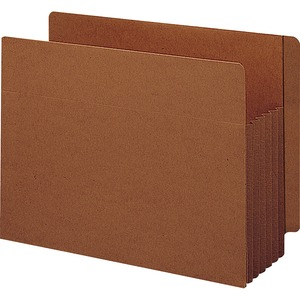 Smead 74790 Redrope Extra Wide End Tab TUFF Pocket File Pockets with Reinforced Tab SMD74790