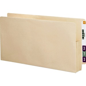 Smead 75124 Manila End Tab File Pockets with Reinforced Tab SMD75124