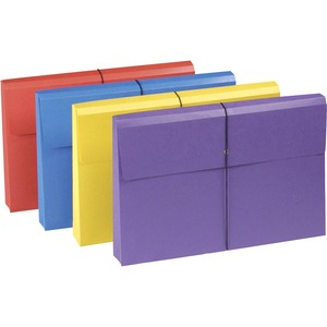 Smead 77300 Assortment Colored Expanding Wallets with Antimicrobial Product Protection SMD77300