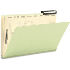 Smead 78208 Gray/Green Pressboard Mortgage File Folders SMD78208