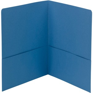 Smead 87852 Blue Two-Pocket Heavyweight Folders SMD87852
