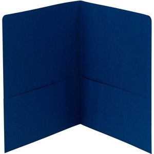 Smead 87854 Dark Blue Two-Pocket Heavyweight Folders SMD87854