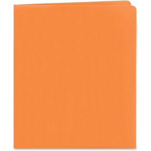 Smead 87858 Orange Two-Pocket Heavyweight Folders SMD87858