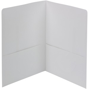 Smead 87861 White Two-Pocket Heavyweight Folders SMD87861