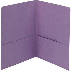 Smead 87865 Lavender Two-Pocket Heavyweight Folders SMD87865