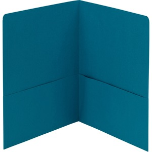 Smead 87867 Teal Two-Pocket Heavyweight Folders SMD87867