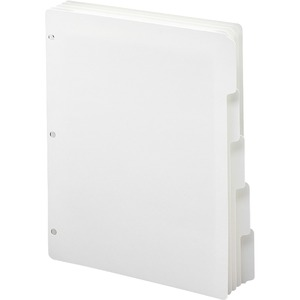 Smead 89415 White Three-Ring Binder Index Dividers SMD89415