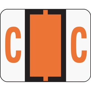 Smead 67073 Dark Orange BCCR Bar-Style Color-Coded Alphabetic Label - C SMD67073