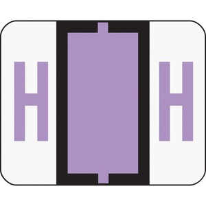 Smead 67078 Lavender BCCR Bar-Style Color-Coded Alphabetic Label - H SMD67078