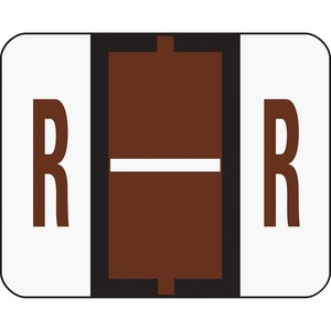 Smead 67088 Brown BCCR Bar-Style Color-Coded Alphabetic Label - R SMD67088