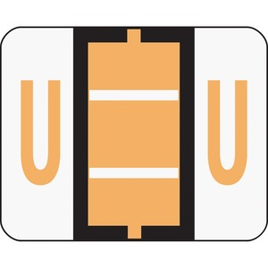 Smead 67091 Light Orange BCCR Bar-Style Color-Coded Alphabetic Label - U SMD67091
