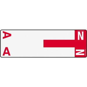 Smead 67152 Red AlphaZ NCC Color-Coded Name Label - A & N SMD67152
