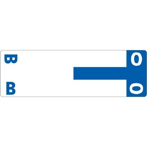 Smead 67153 Dark Blue AlphaZ NCC Color-Coded Name Label - B & O SMD67153