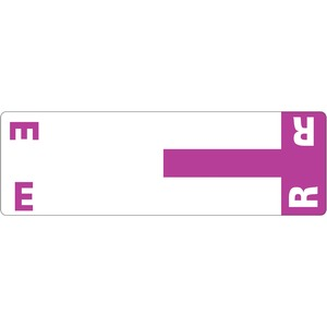 Smead 67156 Purple AlphaZ NCC Color-Coded Name Label - E & R SMD67156