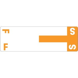 Smead 67157 Orange AlphaZ NCC Color-Coded Name Label - F & S SMD67157