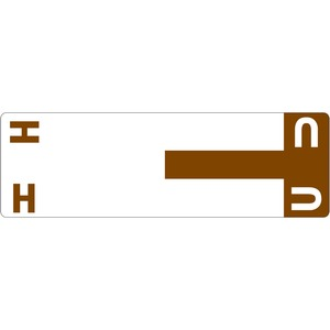 Smead 67159 Dark Brown AlphaZ NCC Color-Coded Name Label - H & U SMD67159