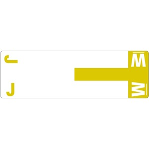 Smead 67161 Yellow AlphaZ NCC Color-Coded Name Label - J & W SMD67161