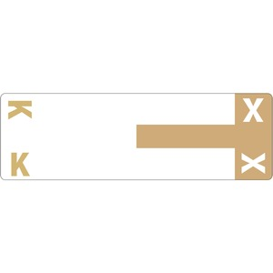 Smead 67162 Light Brown AlphaZ NCC Color-Coded Name Label - K & X SMD67162
