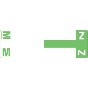 Smead 67164 Light Green AlphaZ NCC Color-Coded Name Label - M & Z SMD67164
