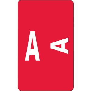 Smead 67171 Red AlphaZ ACCS Color-Coded Alphabetic Label - A SMD67171