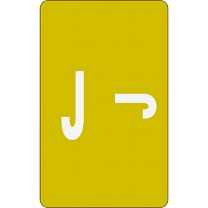 Smead 67180 Yellow AlphaZ ACCS Color-Coded Alphabetic Label - J SMD67180
