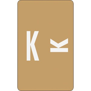 Smead 67181 Light Brown AlphaZ ACCS Color-Coded Alphabetic Label - K SMD67181