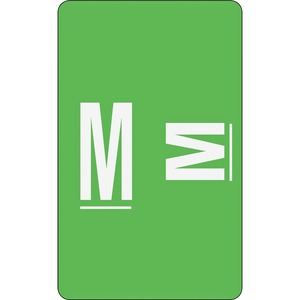 Smead 67183 Light Green AlphaZ ACCS Color-Coded Alphabetic Label - M SMD67183