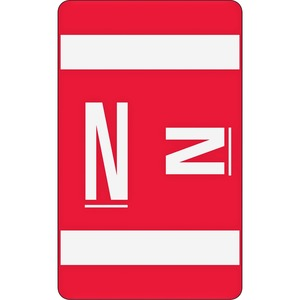 Smead 67184 Red AlphaZ ACCS Color-Coded Alphabetic Label - N SMD67184