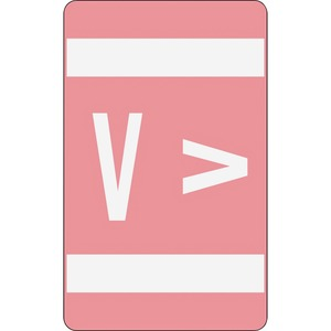 Smead 67192 Pink AlphaZ ACCS Color-Coded Alphabetic Label - V SMD67192