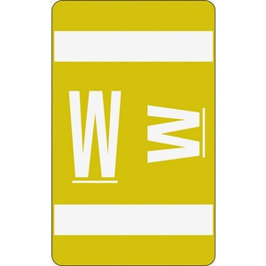 Smead 67193 Yellow AlphaZ ACCS Color-Coded Alphabetic Label - W SMD67193