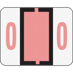 Smead 67370 Pink BCCRN Bar-Style Color-Coded Numeric Label - 0 SMD67370