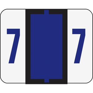 Smead 67377 Purple BCCRN Bar-Style Color-Coded Numeric Label - 7 SMD67377