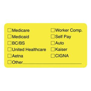 Tabbies Medical Office Insurance Label TAB02940