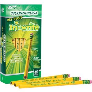Ticonderoga Tri-Write Beginner No. 2 Pencils DIX13082